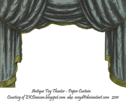 Black Toy Theater Curtain 2 by EveyD
