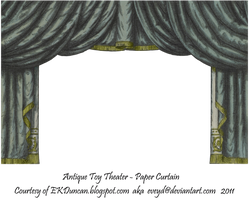 Black Toy Theater Curtain 3 by EveyD