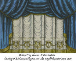 Blue Toy Theater Curtain 1 by EveyD