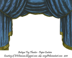Blue Toy Theater Curtain 2 by EveyD
