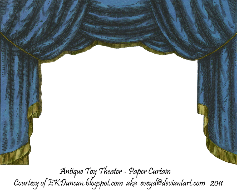 Blue toy theater curtain 2 by eveyd on deviantart for Blue theatre curtains png