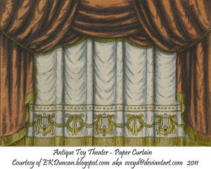 Copper Toy Theater Curtain 1
