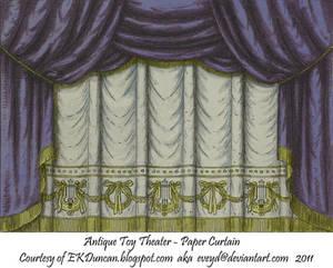 Midnight Toy Theater Curtain 1