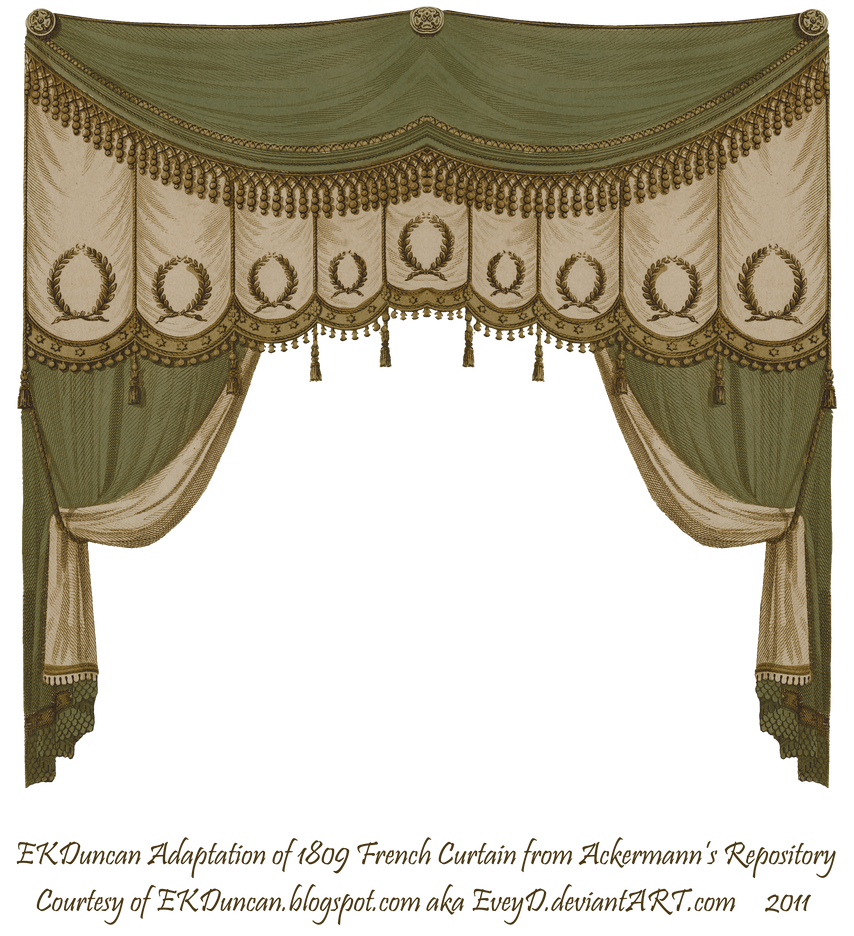 Ekd 1809 curtain moss brown by eveyd on deviantart for Brown curtains png