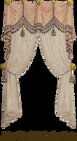 1810 Fringe and Tassel Curtain -  Cantalope