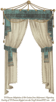 1811 Velvet Trimmed Curtain  - Teal by EveyD