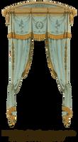 1815 French Curtain - Aqua by EveyD