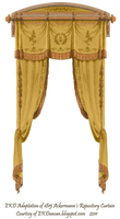 1815 French Curtain - Gold by EveyD