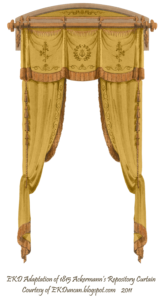 1815 french curtain gold by eveyd on deviantart for Gray curtains png