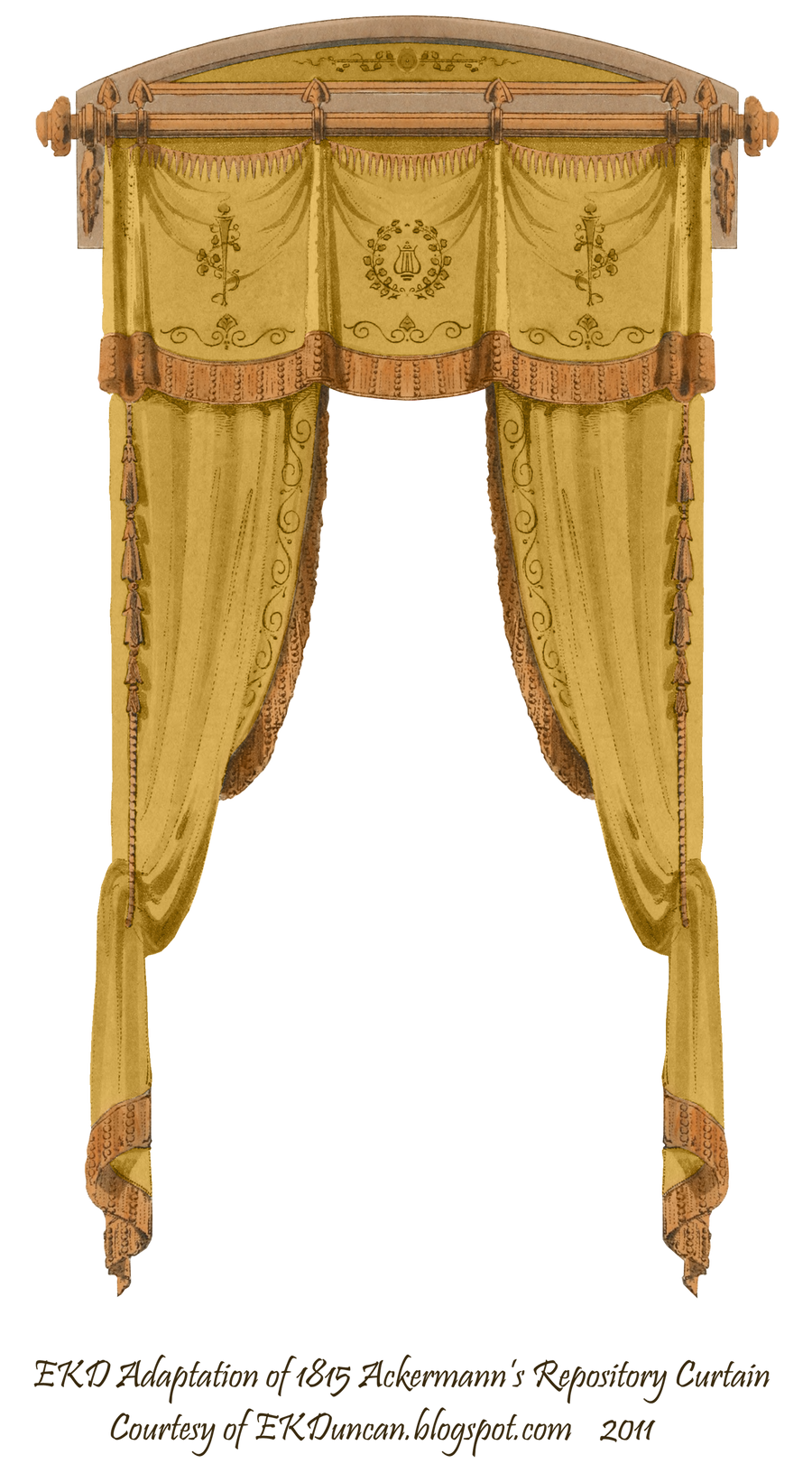 1815 French Curtain - Gold