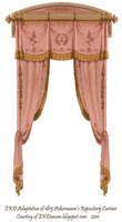 1815 French Curtain - Rose