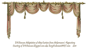 1819 Swag Curtain - Pink by EveyD