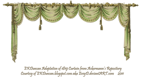 1819 Swag Curtain - Green by EveyD