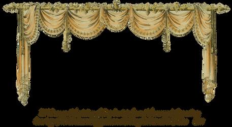1819 Swag Curtain - Peach