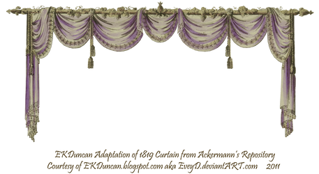 1819 Swag Curtain - Purple by EveyD