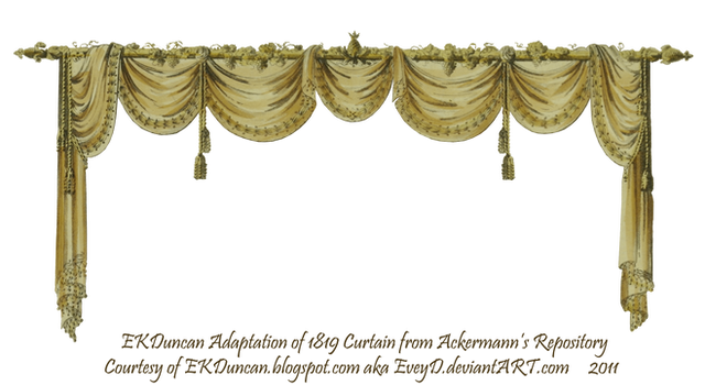 1819 Swag Curtain - Gold