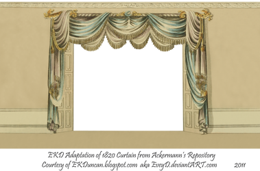 1820 Regency Curtain Room - EKD 1