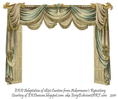 1820 EKD Regency Curtain Room 1 - curtain only by EveyD