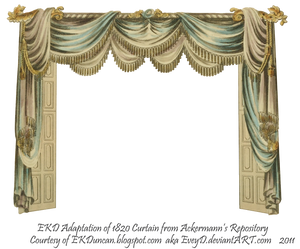 1820 EKD Regency Curtain Room 1 - curtain only