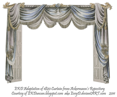 1820 EKD Regency Curtain Room 3 - curtain only by EveyD