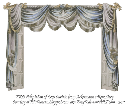 1820 EKD Regency Curtain Room 3 - curtain only