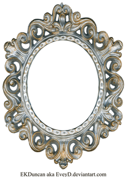 Vintage Silver and Gold Frame - Oval