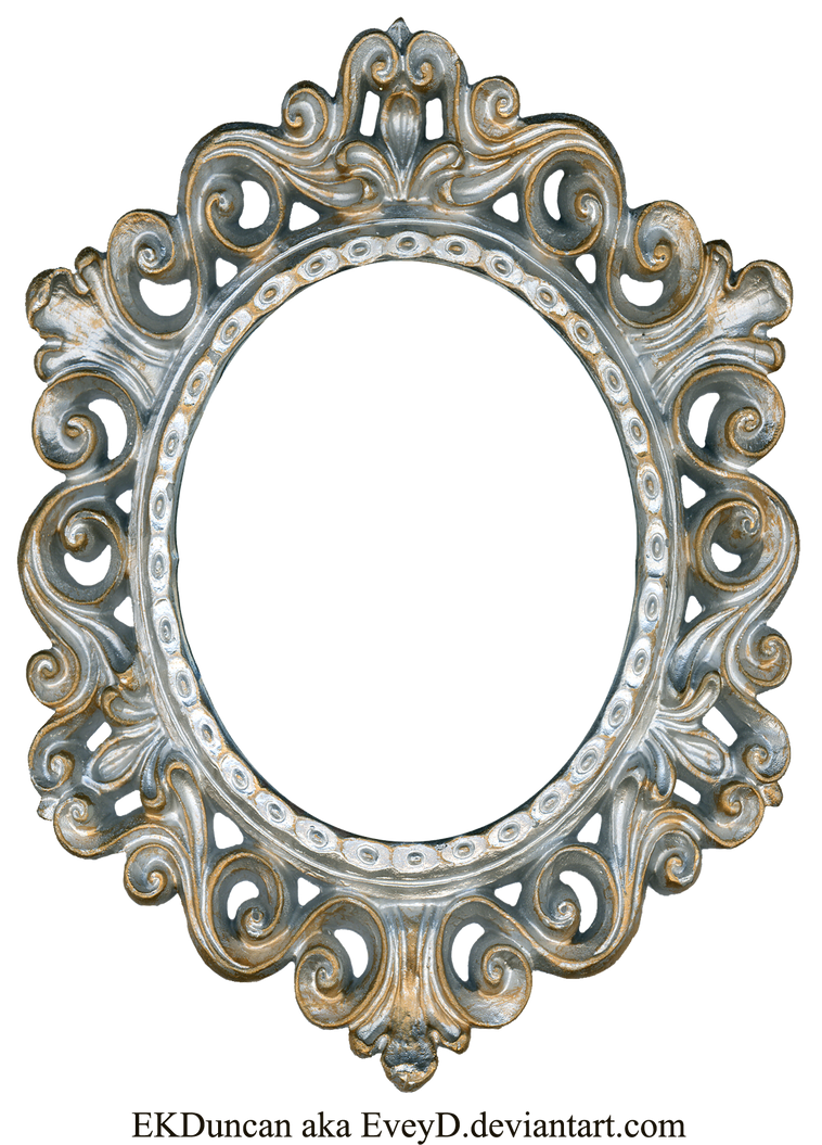 Vintage Silver and Gold Frame - Oval by EveyD on DeviantArt