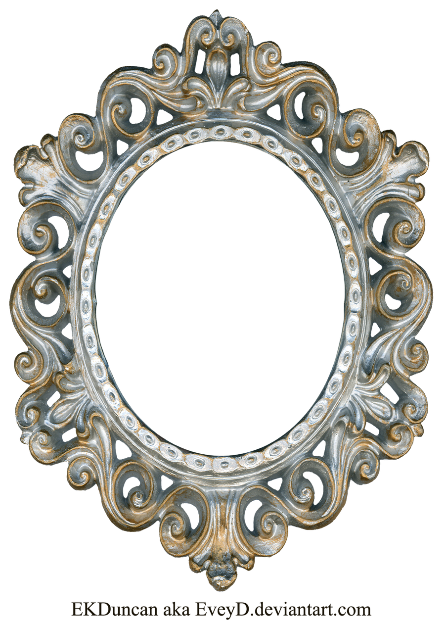Vintage Silver and Gold Frame  Oval by EveyD on DeviantArt