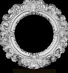 Vintage Silver Frame - Round