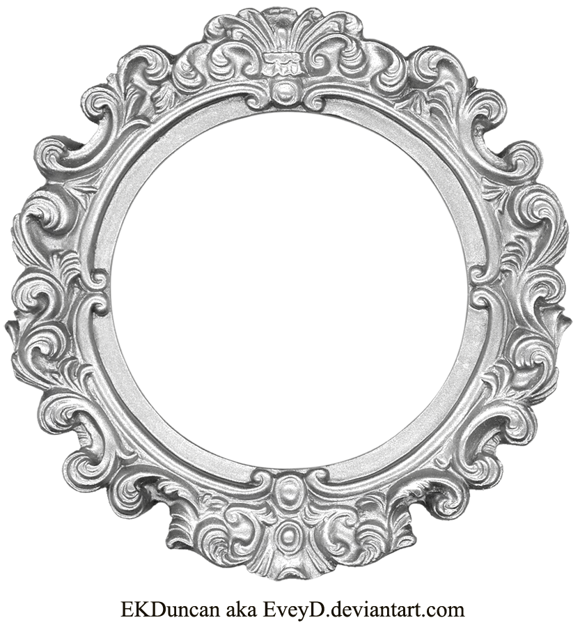Vintage silver frame round by eveyd on deviantart vintage silver frame round by eveyd thecheapjerseys Images