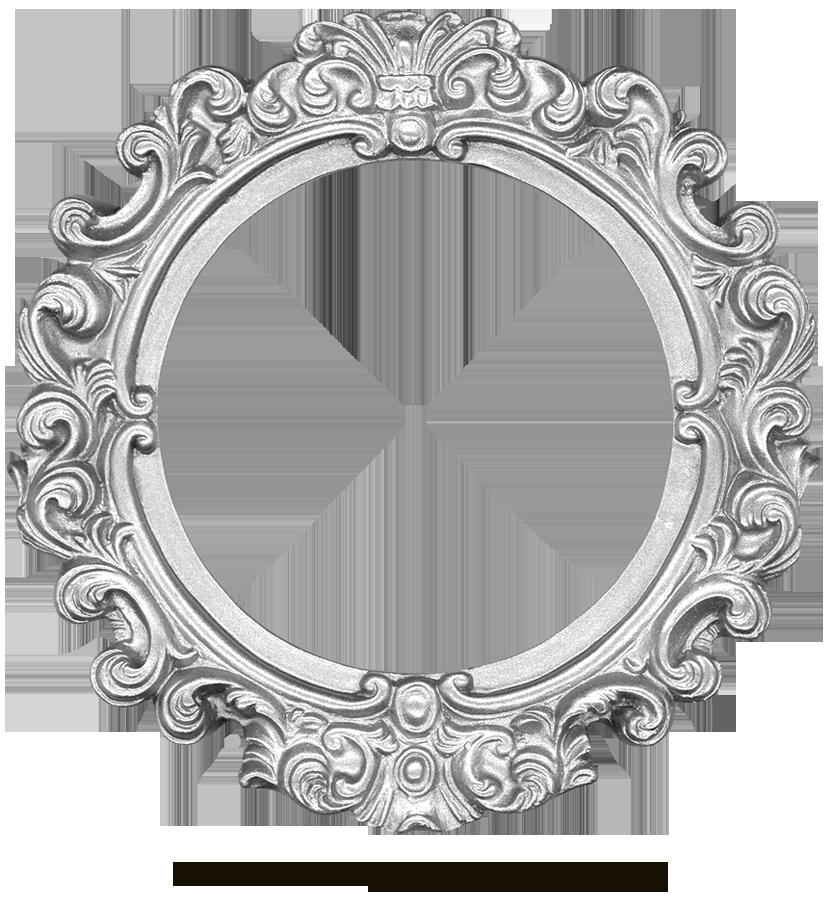 Vintage Silver Frame - Round by EveyDOval Vintage Frames Png