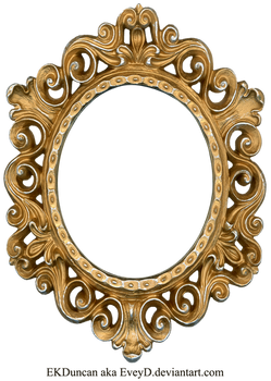 Vintage Gold and Silver Frame - Oval