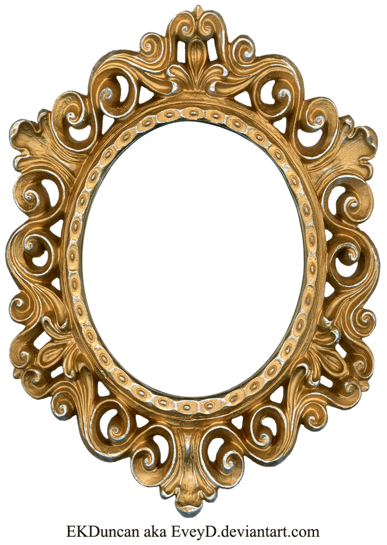 Vintage Gold and Silver Frame - Oval by EveyD on DeviantArt