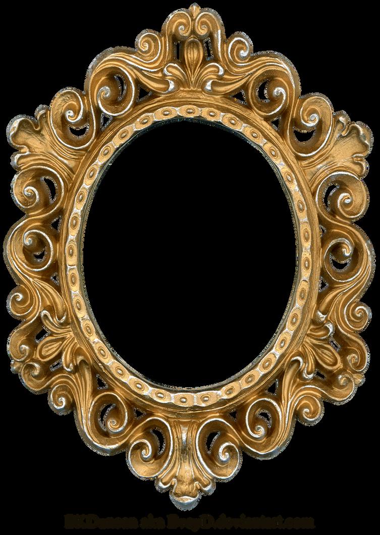 Vintage Gold and Silver Frame - Oval by EveyDOval Vintage Frames Png