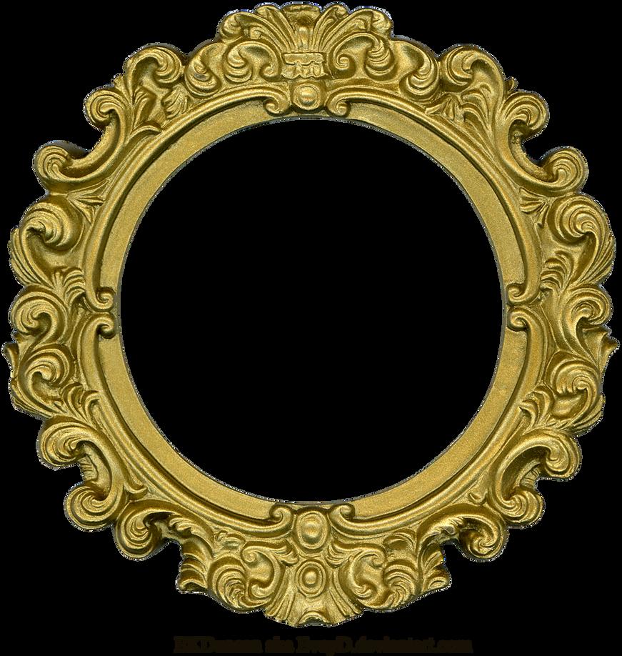 vintage gold frame round by eveyd on deviantart