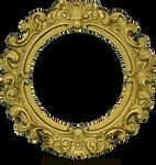 Vintage Gold Frame - Round