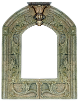 Vintage Fresco Carved Shrine Frame by EveyD