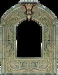 Vintage Fresco Carved Shrine Frame