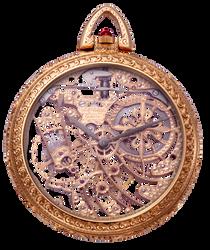 Antique Vintage Pocket Watch png by EveyD