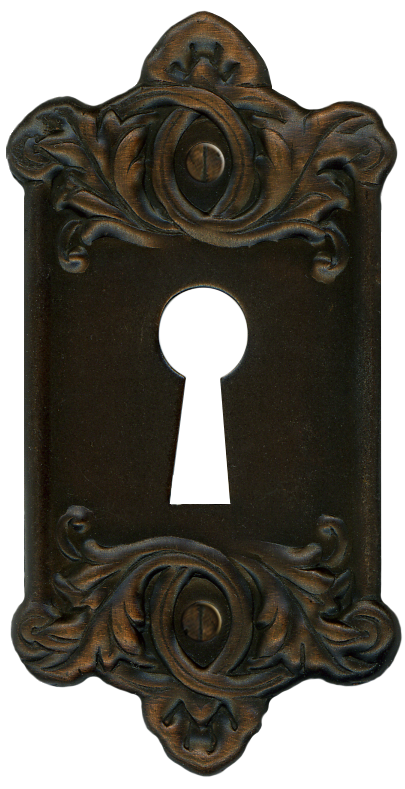 Retro Vintage Door Key Plate for Lock by EveyD