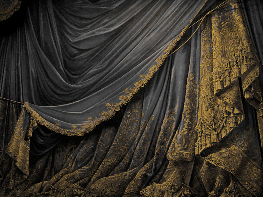 Backdrop Vintage Theater Stage Curtain