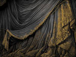 Backdrop Vintage Theater Stage Curtain - Black