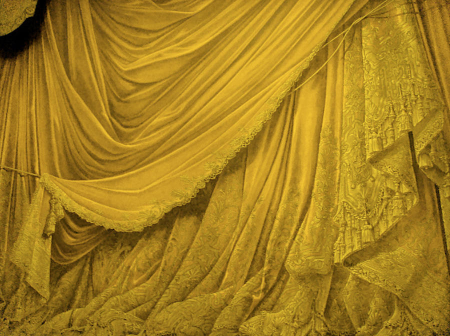 Backdrop Vintage Theater Stage Curtain Gold By Eveyd On
