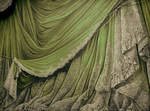 Backdrop Vintage Theater Stage Curtain - Green