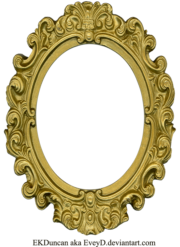 Ornate Gold Frame - Oval 1 by EveyD on DeviantArt