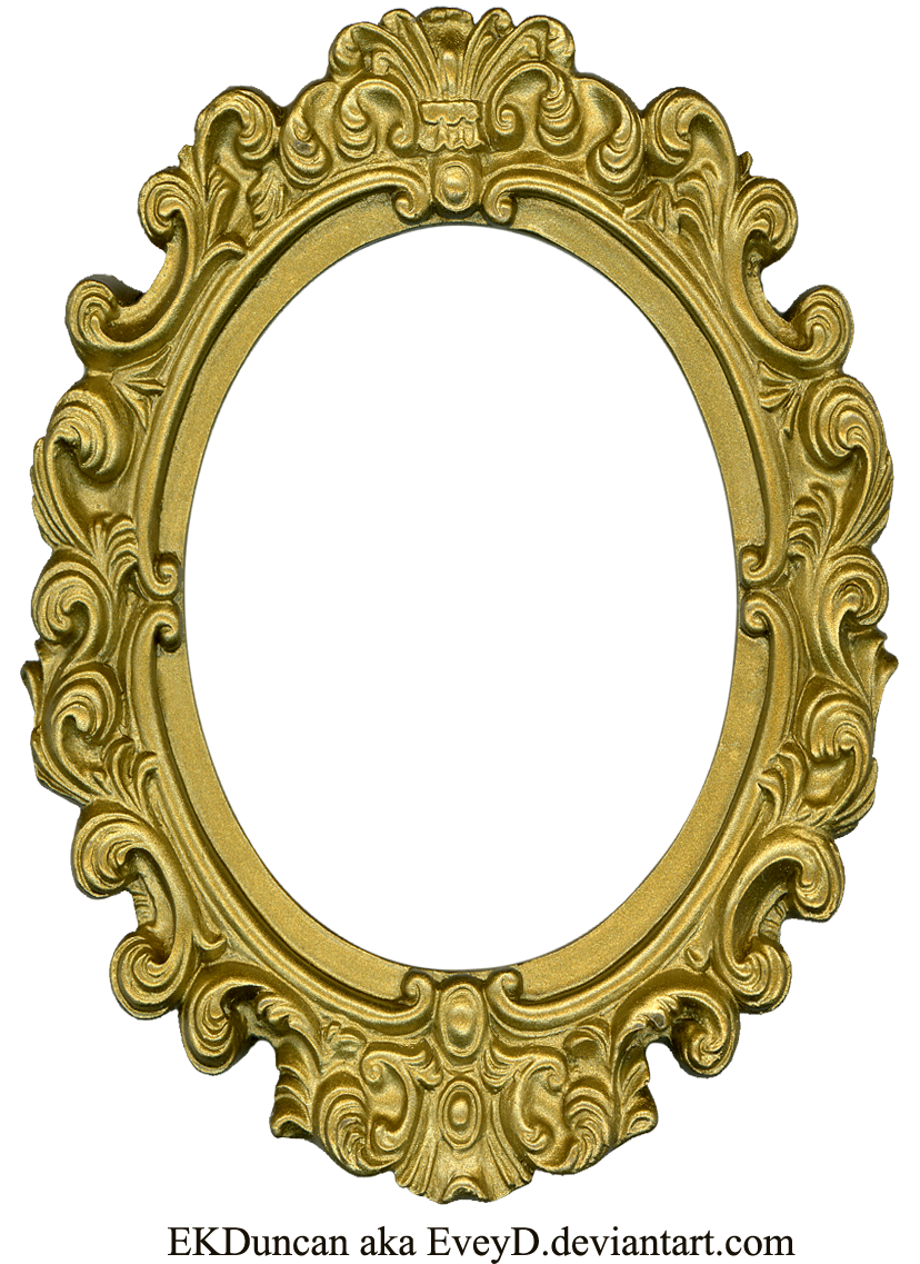 Ornate Gold Frame - Oval 1 by EveyDOrnate Gold Frame Vector