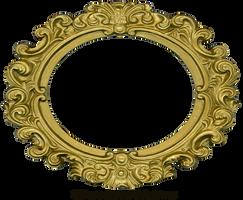 Ornate Gold Frame - Oval 2 by EveyD
