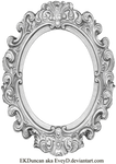 Ornate Silver Frame - Long Oval