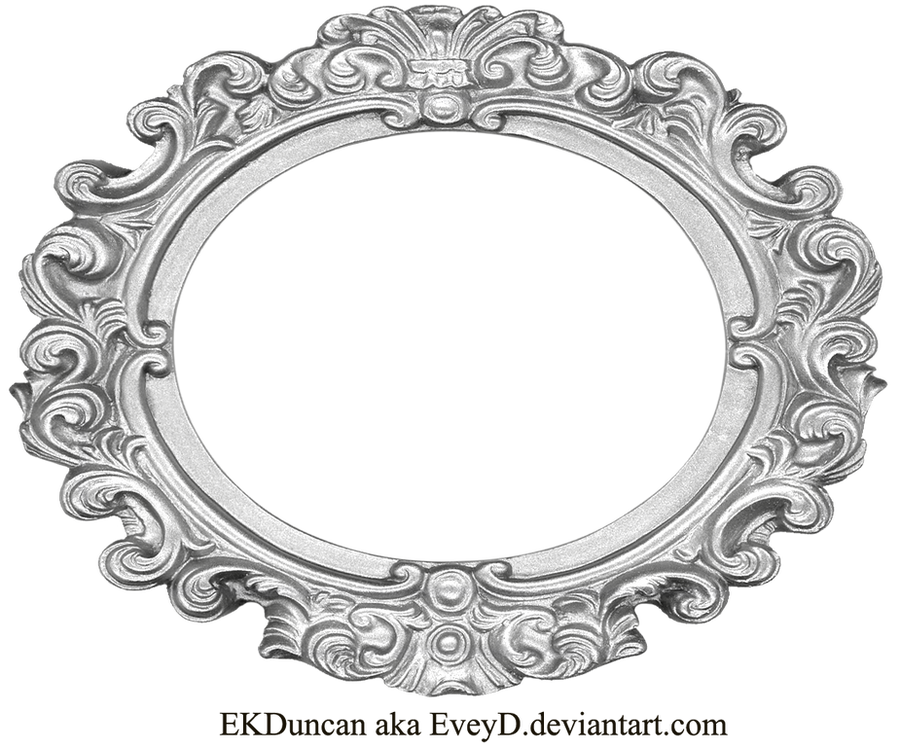 Ornate Silver Frame - Wide Oval by EveyD on DeviantArt