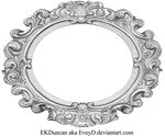 Ornate Silver Frame - Wide Oval